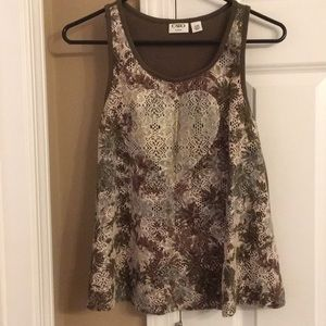 Girls Camo Tank Top XL 16